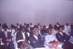 コンゴ人研修の成果を発表するセミナーに参加したコンゴ人聴衆©西原智昭
