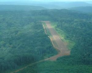 ブッシュ滑走路;通常はこんな感じである©WCS Congo
